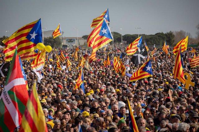 Assistents a l'acte del Consell de la República en Perpignan (França) a 29 de febrer de 2020.