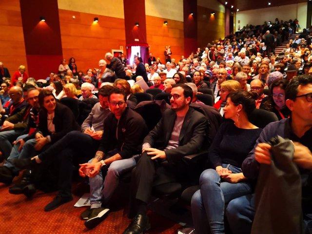 El ministre de Consum, Aberto Garzón, a l'assemblea fundacional d'Esquerra Unida de Catalunya (EUCat)
