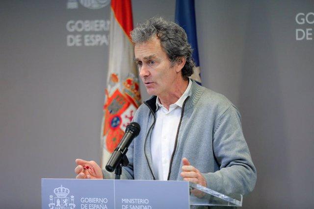 Reunió del Comitè de Seguiment del coronavirus i posterior compareixença del director del Centre de Coordinació d'Alertes i Emergències Sanitàries del Ministeri de Sanitat, Fernando Simón, a Madrid (Espanya) a 29 de febrer del 2020.