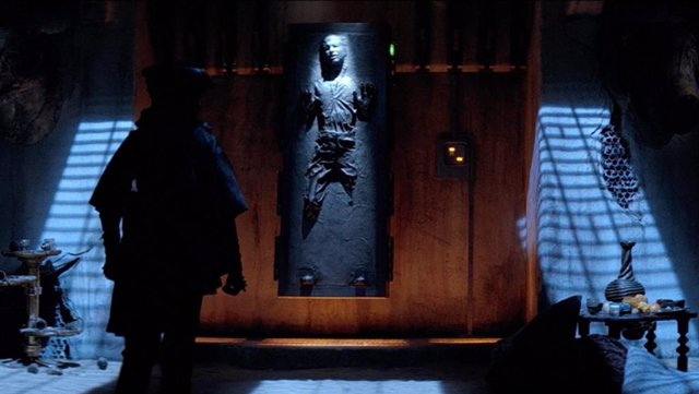 Han Solo en carbonita en El retorno del Jedi