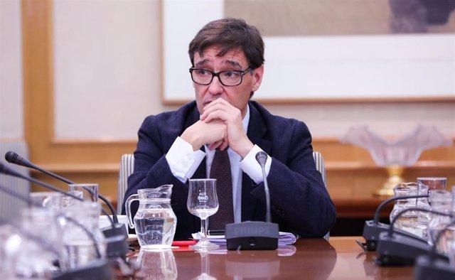 El ministro de Sanidad, Salvador Illa, durante la reunión del Comité de Seguimiento del coronavirus, en Madrid (España) a 29 de febrero de 2020.