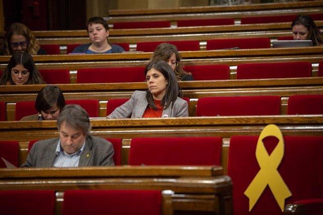 La portaveu i secretària general adjunta d'ERC, Marta Vilalta, durant la segona sessió plenària al Parlament, a Barcelona (Espanya), a 12 de desembre del 2019.