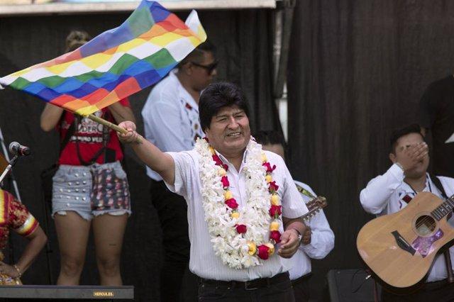 El expresidente de Bolivia Evo Morales en Buenos Aires