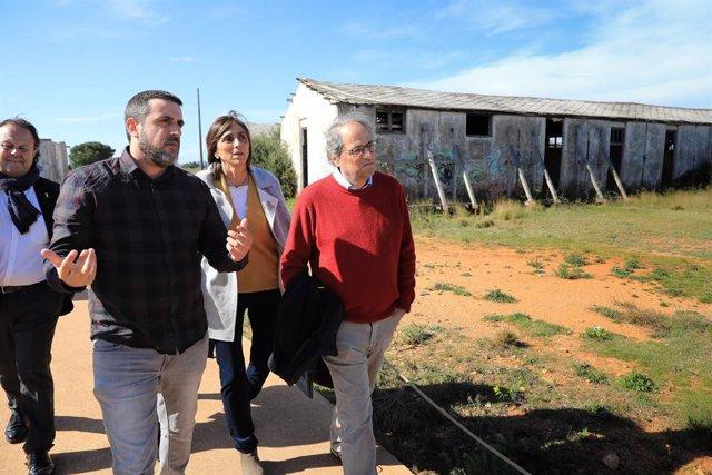 El president de la Generalitat, Quim Torra, visita el Memorial del Camp de Ribesaltes (França)
