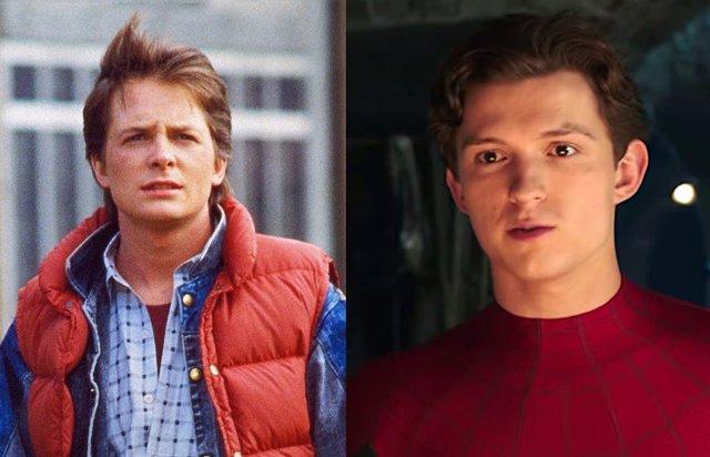 Michael J. Fox y Tom Holland
