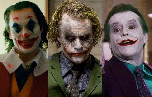 Joaquin Phoenix, Heath Ledger y Jack Nicholson