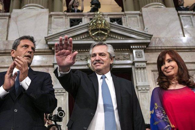 Apertura del año legislativo por Alberto Fernández y Cristina Fernández