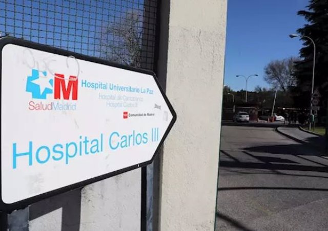 Entrada al Hospital Carlos III.