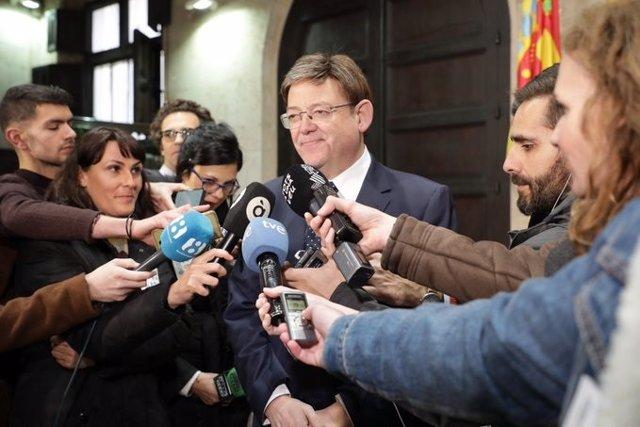 Puig atiende a los periodistas (imagen de archivo)