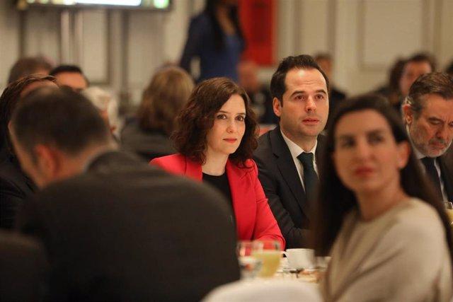 La presidenta de la Comunidad de Madrid, Isabel Díaz Ayuso y el vicepresidente de la Comunidad de Madrid, Ignacio Aguado. Recurso