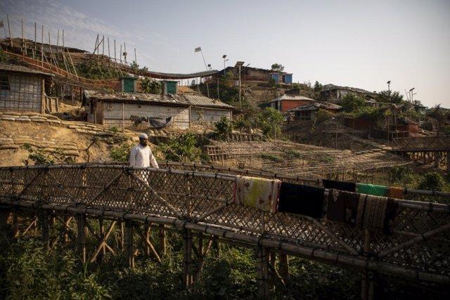 Campamentos de refugiados rohingya en Bangladesh