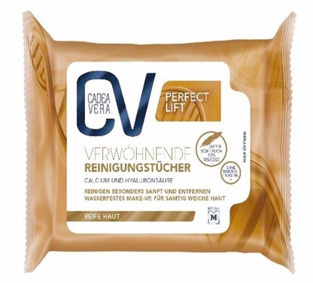 Toallitas limpiadoras CV Cadea Vera Verwöhnende Reinigungstücher de la empresa Dr Schumacher GmbH