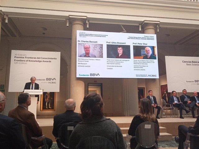 Charles Bennett, Gilles Brassard y Peter Shor, Premios Fundación BBVA de Ciencias Básicas 2020