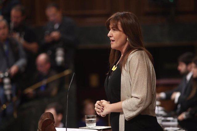 La portaveu parlamentària de JxCat, Laura Borràs, al Congrés dels Diputats.