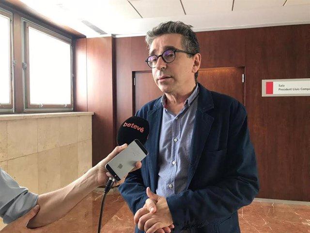El regidor Jordi Martí en declaracions als mitjans.