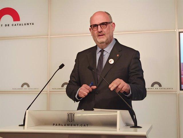 El portaveu de JxCat al Parlament, Eduard Pujol.