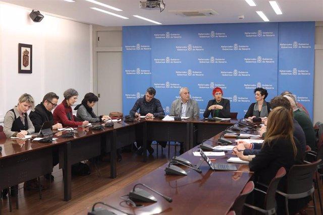 Reunión de la comisión interdepartamental del Gobierno de Navarra para coordinar el abordaje del coronavirus