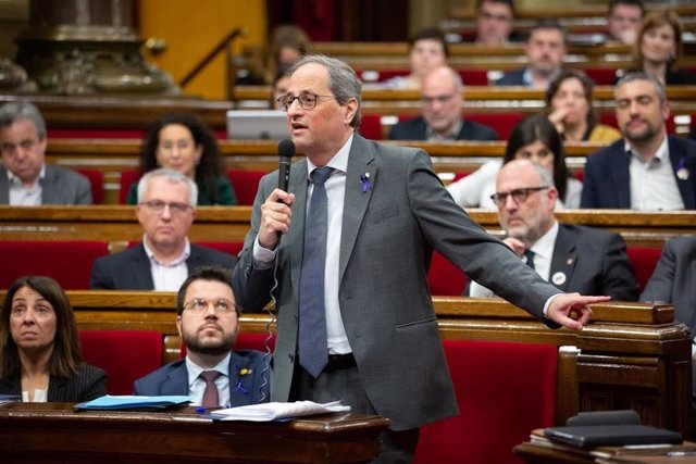 El president de la Generalitat, Quim Torra, al ple del Parlament.