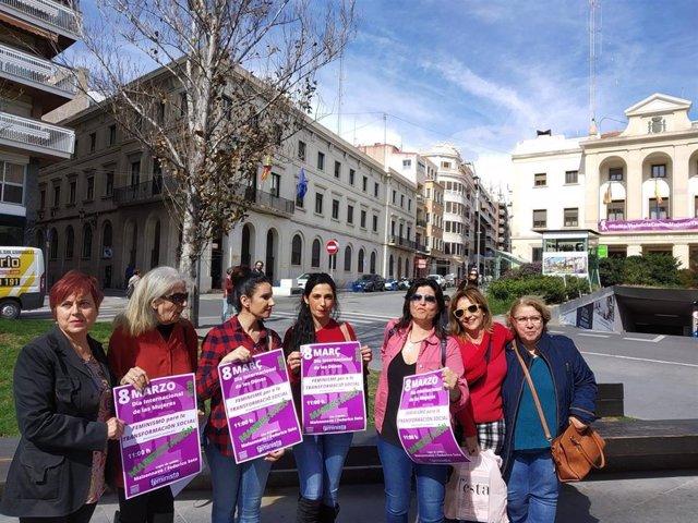 Portavoces de la Plataforma Feminista de Alicante.