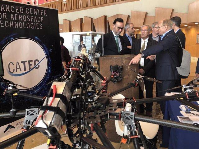 Rogelio Velasco, consejero de Economía, en el Foro Europeo de Robótica que se celebra en Málaga