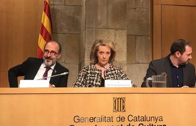 Francesc Vilaró, Mariàngela Vilallonga i Miquel Curanta.