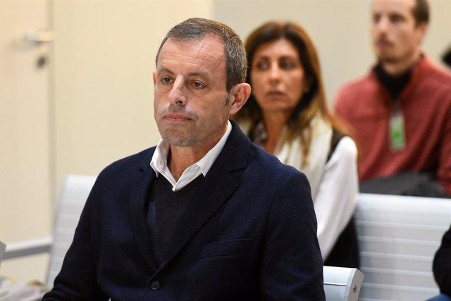 L'expresident del FC Barcelona, Sandro Rosell, en el judici