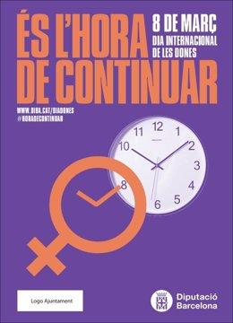 Cartell de la campanya de la Diputació de Barcelona 'És l'hora de continuar'