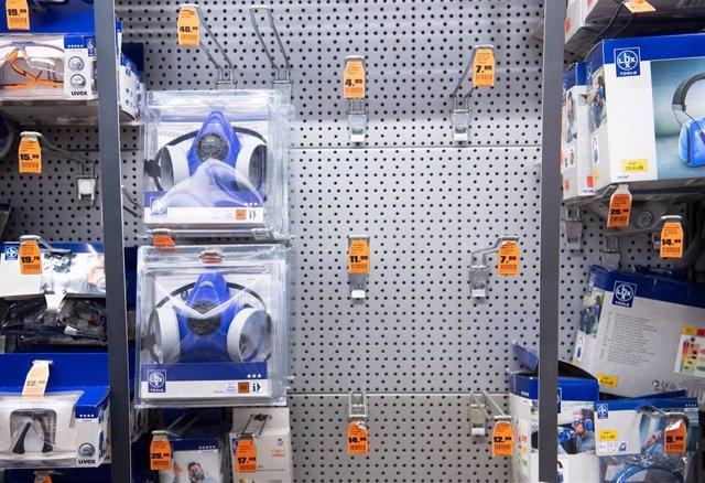 Mascarillas en una tienda en Alemania