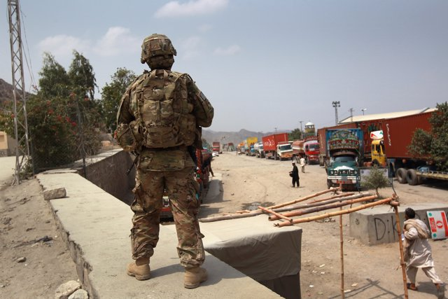 El paso de Torjam, en la frontera de Afganistán con Pakistán