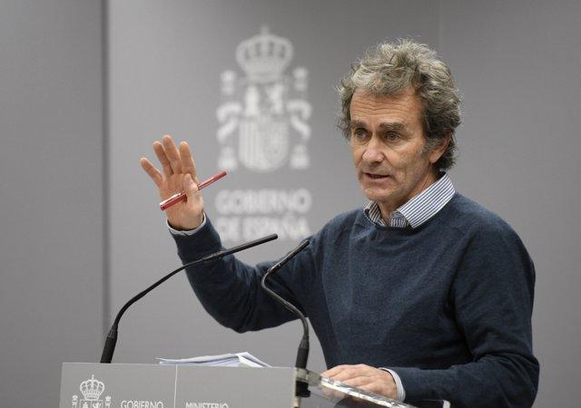 El director del Centro de Coordinación de Alertas y Emergencias Sanitarias (Ccaes), Fernando Simón,.