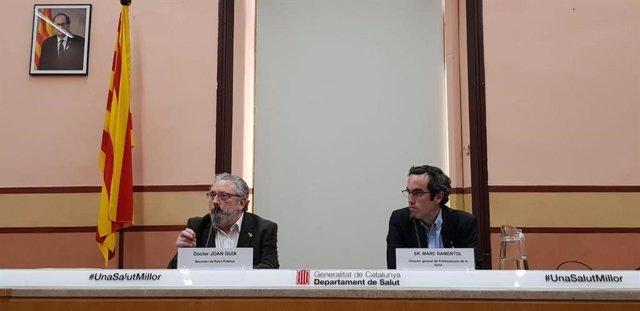 El secretario de Salud Pública, Joan Guix, y el director general de Profesionales de la Salud, Marc Ramentol