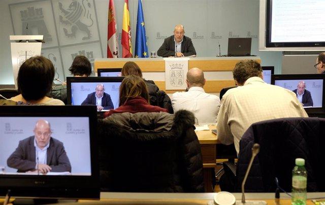 El vicepresidente de la Junta de Castilla y León, Francisco Igea, en la rueda de prensa posterior al Consejo de Gobierno