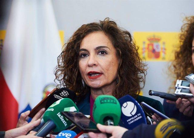 La ministra de Hacienda, María Jesús Montero, en Santander