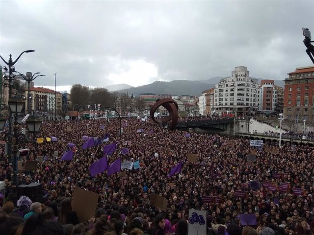 Manifestación del 8M en Bilbao