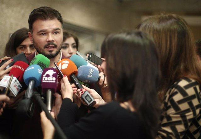 El portaveu d'ERC al Congrés, Gabriel Rufián, Madrid (Espanya) 5 de març del 2020.