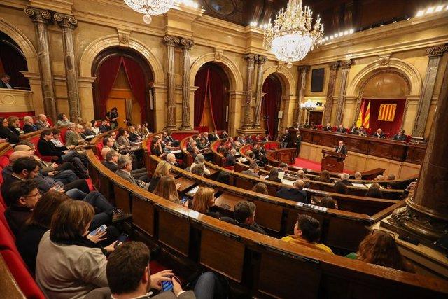 Vista de l'hemicicle del Parlament (arxiu).