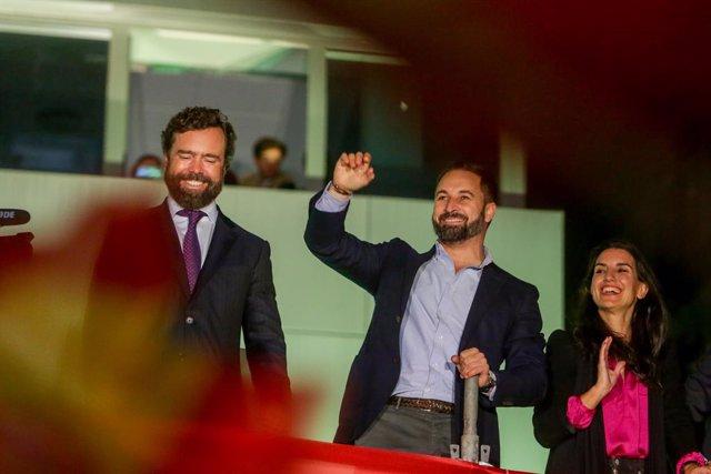 El presidente de Vox, Santiago Abascal, tras las elecciones del 10 de noviembre