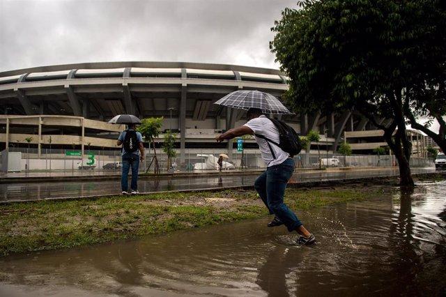 Lluvias en Río de Janeiro (Imagen de archivo)