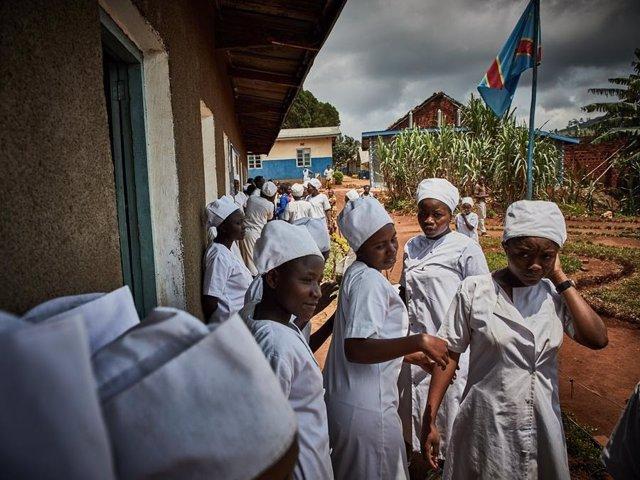 Estudiantes de enfermería en Butembo