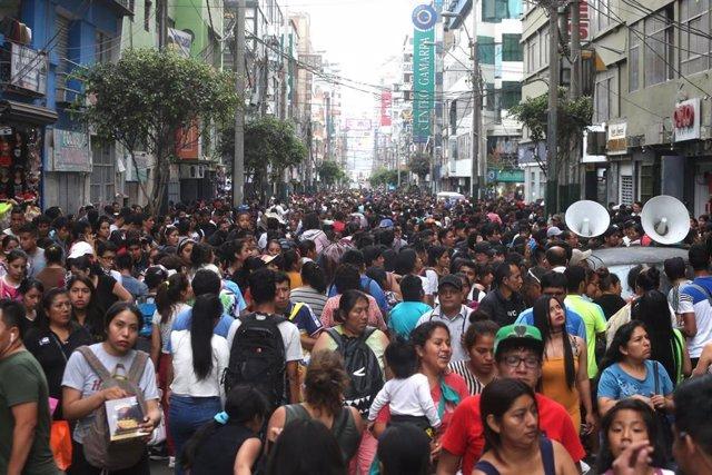 Complejo comercial de Gamarra, en Lima