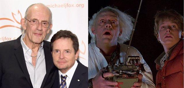 Michael J. Fox y Christopher Lloyd, proagonistas de Regreso al futuro