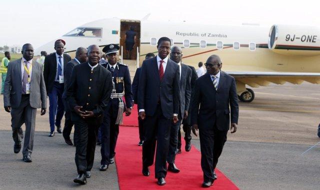 El presidente de Zambia, Edgar Lungu