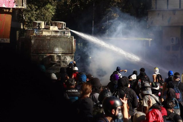 Imagen de las manifestaciones de este viernes de marzo.