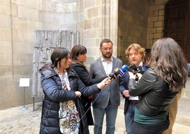 El director del Consell Català de l'Esport de la Generalitat, Toni Reig, i el regidor d'Esports de l'Ajuntament de Barcelona, David Escudé