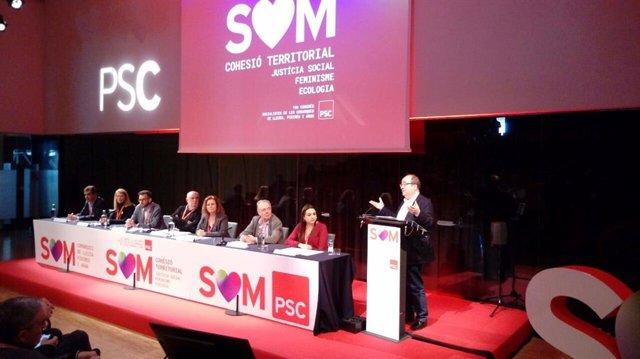 El primer secretari del PSC, Miquel Iceta, al Congrés del PSC de Lleida, Pirineus i Aran