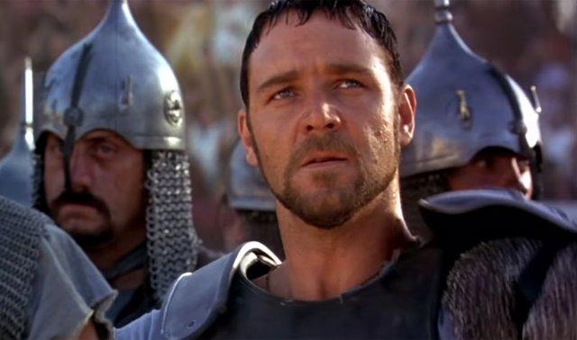 Russell Crowe en Gladiator