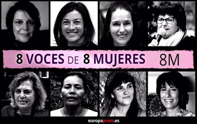 Testimonios de mujeres por el especial de EPSocial del 8 de marzo de 2020