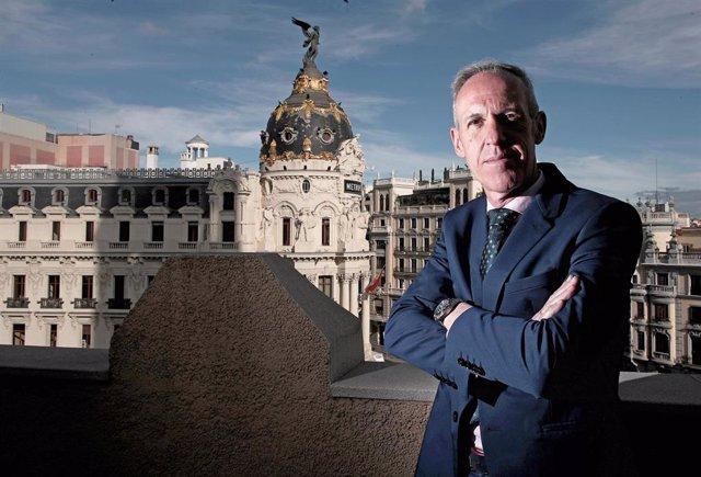 El exdirector de la cárcel de Soto del Real (Madrid) José Luis Argenta, fotografiado en la sede de Instituciones Penitencias para una entrevista con Europa Press