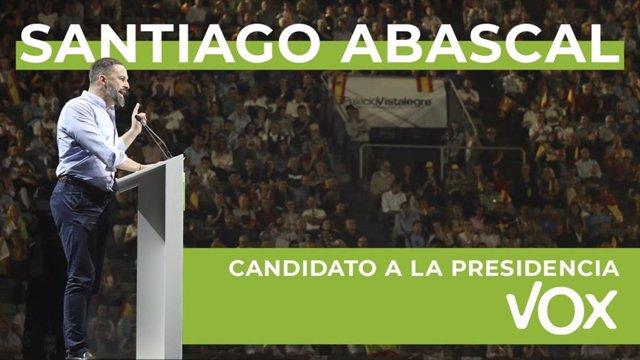 Santiago Abascal presenta su candidatura para presidir Vox