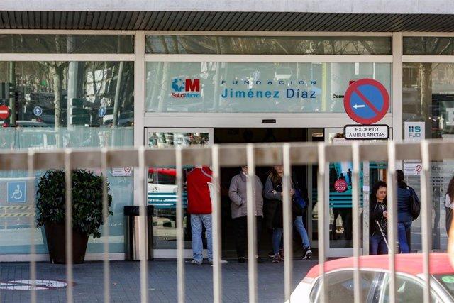 Imagen de recurso de la entrada a la Fundación Jiménez Díaz.